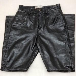GAP genuine leather black pants sz 6
